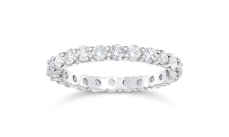 F/VS 1.50ct Diamond Eternity Ring Womens White Gold Lab Created 4342a57b-0498-46ca-852d-113185b39e0c