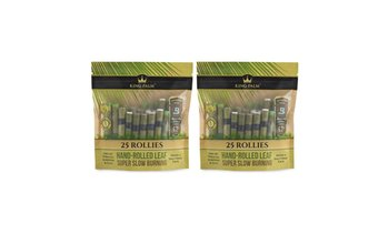 King Palm Rollie Size Natural Pre-Rolled Palm Leaf Rolls (50-Pack)