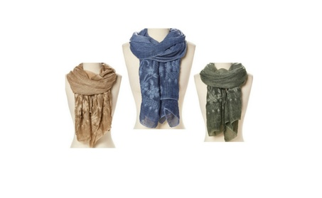 Light Weight Scarves Trendy Stole Shawl Floral Embroidered Scarf Wrap 9b7e932e-110e-40c0-914b-0953eb005335