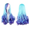Women Lady Multi-Color Lolita Style Long Wave Hair Fancy Cosplay Wig