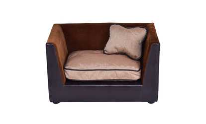 Image Placeholder Image For Pet Lounge Sofa Dog Puppy Bed PU Soft Warm  Snuggle Couch W/ 2