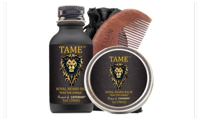 Aftershave & Pre-shave Hair Care & Styling Hand Crafted Caveman® Beard Oil Gift Set Kit Beard Oil Balm Free Beard Brush