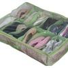 Portable 12 Pocket Shoe Container Storage Organizer