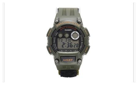 Casio Men's Super Illuminator Vibration Alarm Black Nylon Band Watch c88845a3-a82d-4a52-812f-4a4160c8e3ad