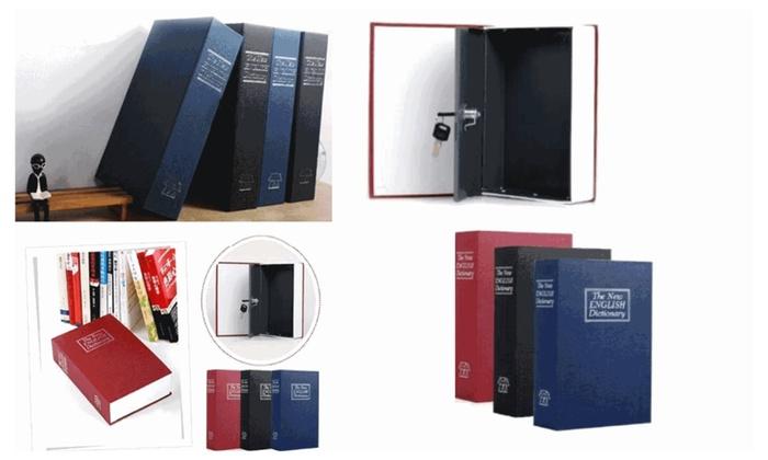 Home Safe Security Dictionary Book Safe Storage Key Lock Box for Cash