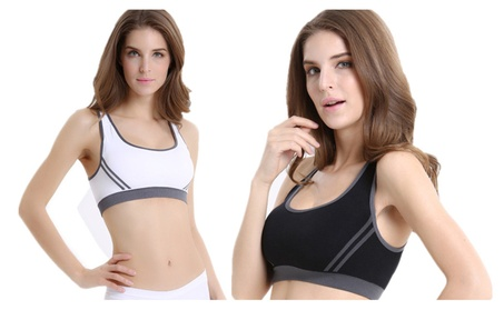 Women Full Coverage High Impact Wirefree Workout Non Padded Sport Bra b086ccd3-21ef-466c-a735-c553c8dd713d
