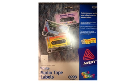 Avery White Audio Tape Labels 8998