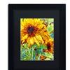 Mandy Budan 'Summer In The Garden' Matted Black Framed Art