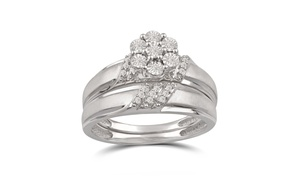 1/10 Cttw Diamond Bridal Set in Sterling Silver by DiamondMuse