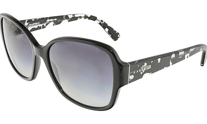 9704900ca0c8 ... wholesale coach womens gradient hc8166 534811 58 black square sunglasses  cc32c d227c