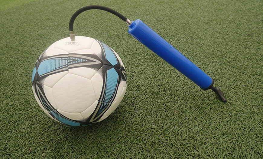 "10/"" Bothway Hand Air Pump /& Needle Pin for Basketball Football Soccer Yoga Ball"