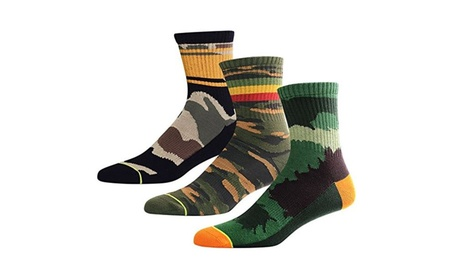 3 Pack Hiking Crew Socks for Men, Stripe Cotton Fashion Athletic Sock - 3 Pairs Multicolor d6fc8cb1-936c-4a56-875f-2564ede190b6