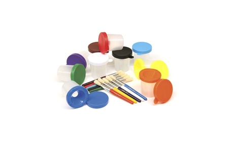 Chenille Kraft Company CK-5104 Paint Cups & Brushes Set 10 Cups 991c0e4a-5006-4750-908c-9453a4b1dadd