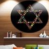 Star of David Shape' Abstract Circle Metal Wall Art