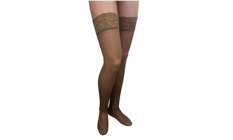 ITA-MED Sheer Thigh Highs - Compression (23-30 mmHg): H-80 ce218e31-b3db-47db-ac11-0b4a6356d488