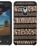 Insten Zebra Dual Silicone Case For Alcatel One Touch Fierce XL Brown