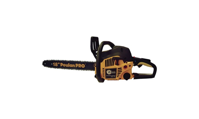 Poulan Pro 42cc Assembled Chainsaw with Case, 18-Inch