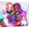 Colorful EmbraceSensual Metal Wall Art 28x12