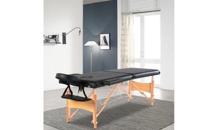"84"" 2 Sections Folding Portable Beech Leg Beauty Massage Table"