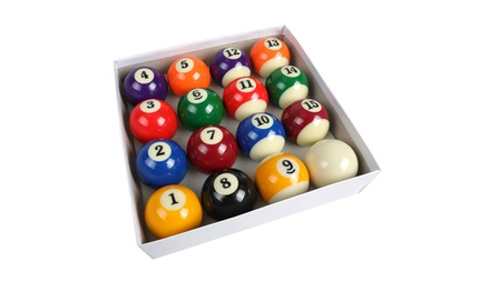 "Pool Table Billiard Ball Set 2-1/4"" Regulation Size Complete 16 Ball Sets"