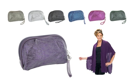 Wrapped and Ready Shawl with Wristlet Carry Case - Assorted Colors