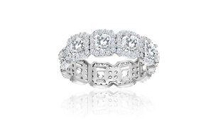 6.28 CTTW Eternity Ring Made with Swarovski Crystals in Sterling Silver