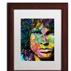 Dean Russo 'Jim' Matted Wood Framed Art