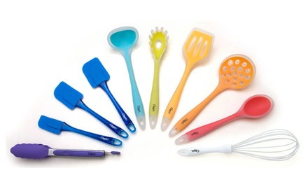Ozeri 11-Piece All-In-One Silicone Utensil Set, Multicolor