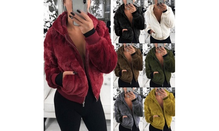 2019 New style women fur hooded Bunny fur short coat