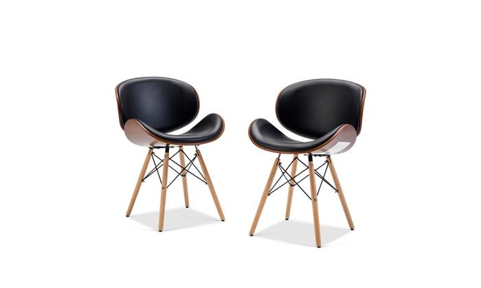 Surprising Belleze Avalon Set Of 2 Modern Accent Dining Chair Groupon Machost Co Dining Chair Design Ideas Machostcouk