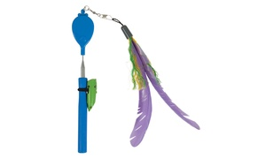 Jackson Galaxy Air Prey Wand with Laser Attachment