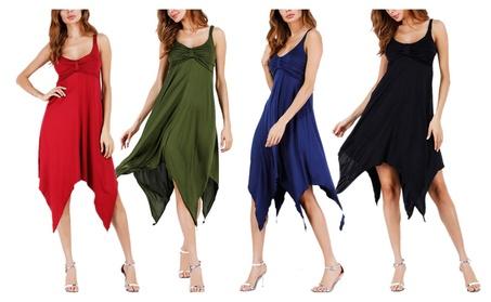 Women's Spaghetti Strap Irregular Backless Summer Beach Dress 47a01b22-88dc-492b-9e2d-dc5e1d8370ba