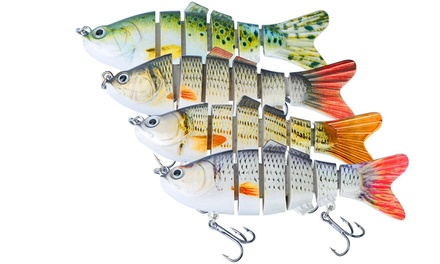 """LakeForest 3.93"""" Multi Jointed Swimbait Bionic Swimming Fishing Lures (4-Pack)"""