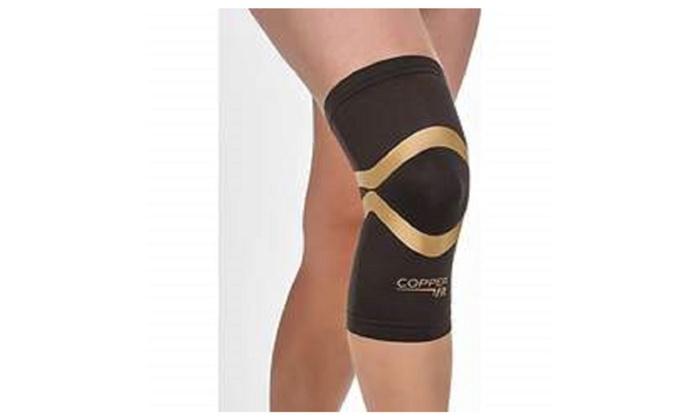 0e9bdb7b206e54 Copper Fit Pro Series Performance Compression Knee Sleeve, Large - Black  With Copper Trim / L