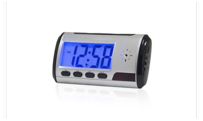 Hidden Camera Nanny Cam Video Alarm Clock Surveillance