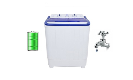 240W 16LBS Semi-automatic Washer Spin Dryer Twin Tub Washing Machine photo