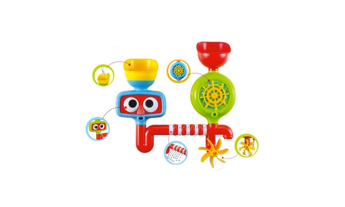 lovely portable bath tub toy water sprinkler system children kids toy groupon. Black Bedroom Furniture Sets. Home Design Ideas