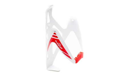 EyezOff Burst Ultra Lightweight Aluminum Bottle Cage - Red and White 120c062d-1009-4d97-ab20-2cbb368e3820