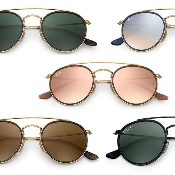 Double Ray Ban Bridge Sunglasses Round Color Rb3647n Multiple Unisex fvYb76gyI