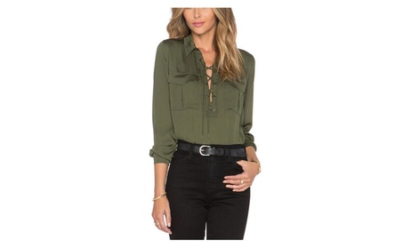 Women's Lace Curved Hem Long Sleeve T-shirt Top edae3431-e87a-419d-9d2a-c6a18447ad34