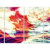 Winds of the World - Large Abstract Wall Art - 48x28 - 4 Panel
