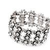 Flowers Charm Black Zinc Plated Bracelet for Women