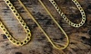 Men's 18K Yellow Gold Plated Cuban Necklace