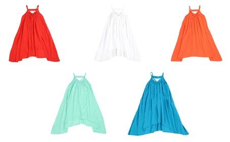 LELEFORKIDS- Toddler & Girls Light Cotton Asymetric Swing Away Dress fd04cc57-0b64-487d-8181-4d691637e038