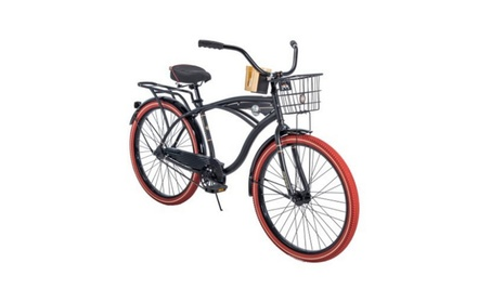 "Huffy 26"" Men's Nel Lusso Perfect Fit Cruiser Bike, Black 58f455a4-7489-41fa-8bbf-e66c1f9e5108"