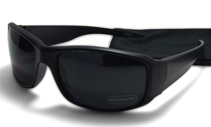 ea46f06d6611 Walter Premium Dark Black Wrap around Sunglasses 100% UV Protection Black  Frame