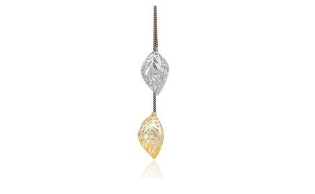 Hollow Double Leaf Pendants Necklace for Women 47f4d25e-bf6a-4e61-a138-19902af2d8e4
