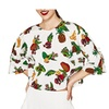 Fruit Print Loose Blouse Pullover Crop Top Casual Wear