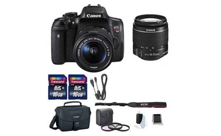 Canon EOS Rebel T6i Digital SLR Camera w/ EF-S 18-55mm+DSLR Bag Bundle ded9f69a-8d67-41d2-bf3a-087c2d605849