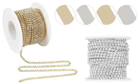11 Yards Crystal Rhinestone Close Chain Trimming Claw Chain Jewelry DIY Crafts